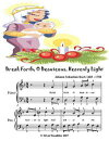 Break Forth O Beauteous Heavenly Light - Easy Piano Sheet Music Junior Edition