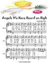 Angels We Have Heard On High - Easiest Piano Sheet Music Junior Edition