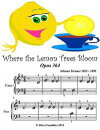 Where the Lemon Tree Blooms Opus 364 - Beginner Tots Piano Sheet Music