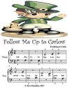 Follow Me Up to Carlow - Beginner Tots Piano Sheet Music