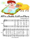 All In a Stable Cold and Bare - Easy Piano Sheet Music Junior Edition