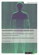 Die Geschichte der Psychotherapie in ���sterreich