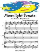 Moonlight Sonata First Movement Adagio Sostenuto - Easy Piano Sheet Music Junior Edition
