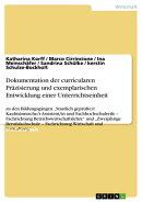 Dokumentation der curricularen Pr���zisierung und exemplarischen Entwicklung einer Unterrichtseinheit