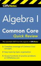 CliffsNotes Algebra I Common Core Quick Review
