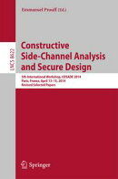 Constructive Side-Channel Analysis and Secure Design