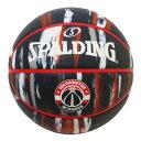 Spalding(スポルディング) NBA ワシントン・ウィザーズ マーブル ブラック ラバーボール 7号球 / 7号バスケットボール Washington Wizards