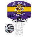 Spalding(スポルディング)NBA ロサンゼルス・レイカーズ マイクロミニボード / Los Angeles Lakers バスケットボール ゴール