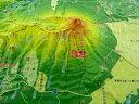 ジオラマ地図岩手山【立体地図】【百名山】【岩手】