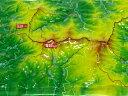 ジオラマ地図金峰山・瑞牆山【立体地図】【百名山】【山梨】【長野】