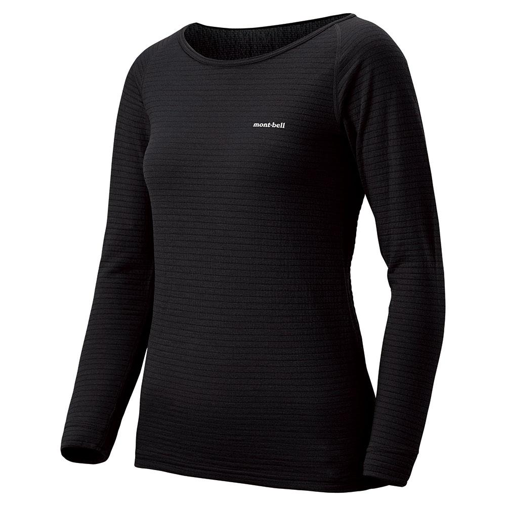 mont-bell(モンベル)スーパーメリノウールEXP.ラウンドネックシャツWomen's/ブラック(BK)【ウィメンズ】【メリノウール】【アンダーウェア】