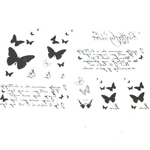 タトゥーシール 蝶々 バタフライ 刺青タトゥーシールステッカー チョウチョウ ちょうちょう タトゥーシール