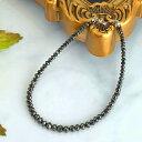 ブラックダイヤ K18WG ブラックダイヤモンドブレスレット20カラット AAA K18WGブレス 4月誕生石 品質保証書 ジュエリーケース付 メンズ&レディース
