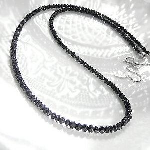 ブラックダイヤモンドネックレス ブラック カラット ジュエリー