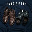 【VARISISTA ヴァリジスタ 】ダブルジップドレープブーツ (Z1031) カジュアルシューズ メンズシューズ 紳士靴 本革 革靴 日本製