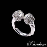 RANDOM CZ CROWN DOUBLE FACE RING【あす楽対応】【楽ギフ包装】