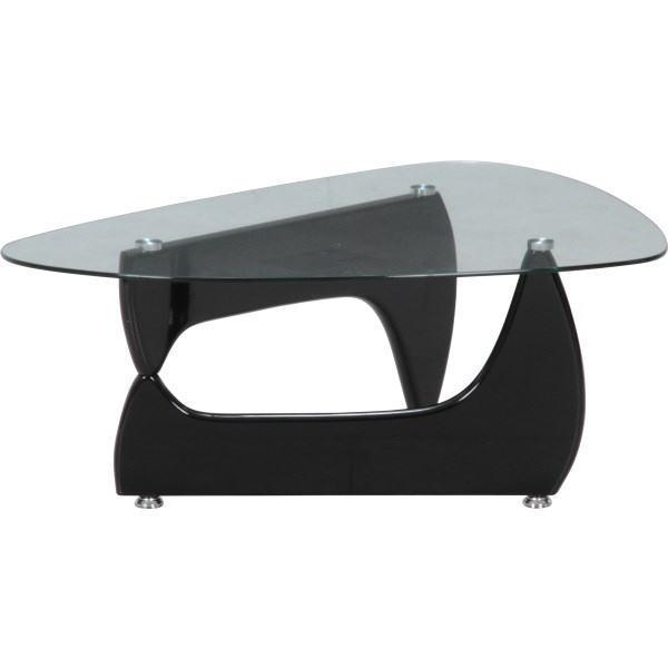ガラスセンターテーブル ルーク ブラック 96140 インテリア家具 リビング お洒落 おしゃれ オシャレ 送料無料 デザイン性のあるガラステーブル♪