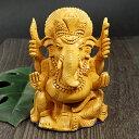 インド神 ガネーシャ 彫刻(カービング) 置物|印度黄檀|木彫り|夢をかなえるゾウ|インド神話|ヒンドゥー教|神々|象頭財神