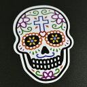 メキシコ シュガースカル(ドクロ)ステッカー(シール)|メキシカンスカル|カラベラ|死者の日【メール