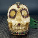 ショッピング置物 【一点物】チベット密教 チベタンスカル(骸骨) ヒマラヤ水晶(カンチェンジュンガ産) 置物 2.6kg|ルビー|エメラルド|西蔵【送料無料】