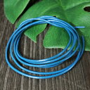 【卸価格販売】レザーコード(革紐)丸型 牛革 直径1.5mm×1m ブルー(青色)|ネックレス|チェーン|アクセサリー用|素材【メール便対応可】