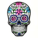 メキシコ シュガースカル(ドクロ)刺繍アイロンワッペン・アップリケ|メキシカンスカル|カラベラ|死者