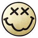 スマイル デコパーツ プラパーツ 縦4.7cm×横4.7cm ニコちゃん ゴールド カスタム DIY かわいい ハンドメイド 手芸【メール便可】