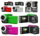 手のひらにすっぽり収まる超コンパクトサイズ!【超特価】 EXEMODE デジタルムービーカメラ DV-230 200万画素CMOSイメージセンサー搭載!SDカード対応デジタルムービーカメラが登場!