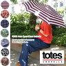 ★totes【トーツ】#8606 雨の日が楽しくなっちゃう♪自動開閉折りたたみ傘/雨の日/梅雨対策に!!選べるカラバリ全7色/ストライプ・ドット・ペイズリー・花柄etcP06May16