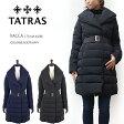 【TATRAS/タトラス】LTA14A VACCA #4286ショールカラーダウンコート/ロングコート/ベルト付きウエストシェイプですっきり/ジップアップ5P12Sep14