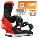 UNION BINDING FORGED-ULTRA カラー BLACK/RED 【ユニオン ウルトラ】【スノーボード バインディング】【日本正規品】【送料無料】 align=