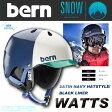 BERN ヘルメット WATTS ワッツ SATIN NAVY HATSTYLE/BLACK LINER 【ウィンター仕様】 BERN HELMET【バーン ヘルメット】【スノーボード スキー】【日本正規品】