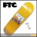 FTC スケート デッキ SF STACK DECK サイズ 8.0 x 32 YELLOW 【スケートボード デッキ 】【日本正規品】【あす楽】715005