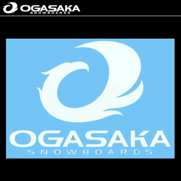 オガサカ OGASAKA ステッカー CUTTING MARK ホワイト 【オガサカ スノーボード ステッカー シール 14-15】