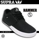 SUPRA スープラ HAMMER ハンマー カラー BLACK-WHITE 【スープラ スケート シューズ】【日本正規品】【あす楽 送料無料】715005