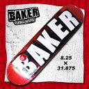 BAKER デッキ SKATEBOARD DECK BRAND LOGO RED FOIL 【ベイカー ベーカー】 8.25 x 31.875 【スケボー スケートボード デッキ】【日本正規品】