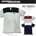 16-17 NOVEMBER フットボール Tシャツ FBT-SHIRTS 【ノベンバー スノーボード】【日本正規品】715005