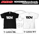 18-19 NOVEMBER TシャツT-LOGO 【カラー ブラック ホワイト】【ノベンバー スノーボード 日本正規品】
