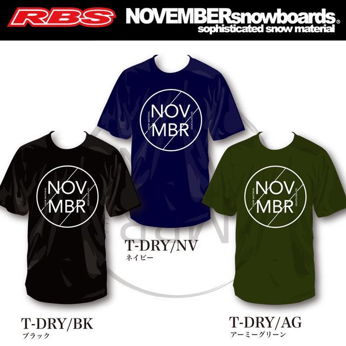 NOVEMBER ドライ Tシャツ 【カラー ブラック ネービー アーミー】T-DRY 【ノベンバー スノーボード】