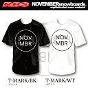 NOVEMBER Tシャツ MARK COTTON【カラー BLACK WHITE】【ノベンバー 日本正規品】