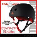 トリプルエイト ヘルメット スケートボード用 カラー HEED BLACK サイズ XXL【TRIPLE8 HELMET】【RUBBER HEED BLACK】【あす楽】