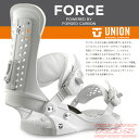 16-17 モデル UNION BINDING FORCE フォース WHITE ホワイト 【UNION 16-17】【ユニオン バインディング】【スノーボード ビンディング】【日本正規品】 align=