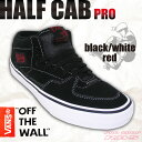 VANS HALF CAB PRO BLACK/WHITE/...
