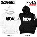 NOVEMBER パーカー PK-LG カラー ブラック ホワイト 【ノーベンバー スノーボード アパレル】【20-21 日本正規品】