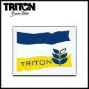 TRITON ステッカー BLUE M 【スノーボード ステッカー】715005