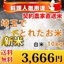 【あす楽対応☆とれたて】 埼玉 でとれたお米 10kg (5kg×2袋) 【あす楽_土曜営業】【送料無料】 北海道、九州、沖縄、四国、その他一部地域を除く。【精米無料】