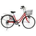 アクティブプラス911自転車 26インチ ノーパンクタイヤ 6段ギア MG-TCG266NF レッド(代引不可)【ポイント10倍】【送料無料】【smtb-f】