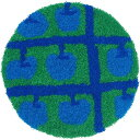 ラグ ラグマット 35X35 Masaru Suzuki リンゴノキ パツド カーペット 絨毯 カワイイ オシャレ ホットカーペット対応 スミノエ(代引不可)【ポイント10倍】【送料無料】【smtb-f】