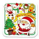 クリスマスタオルハンカチ(サンタとゆかいななかまたち 季節商品 クリスマスサンタもみの木プレゼント
