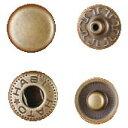 クラフト社 レザークラフト用 金具ホック 小 30個 1041-07 AT(アンティーク真鍮)【ポイント10倍】